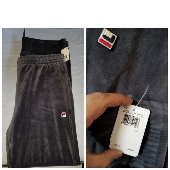 fed97e7628e8a Fila Pants | Vtg Velour Big Tall 3xlt Bnwt | Poshmark